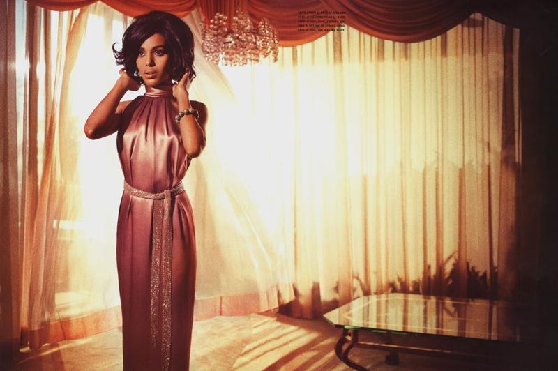Magazine Glam: Kerry Washington Goes 60's Glam In Vogue