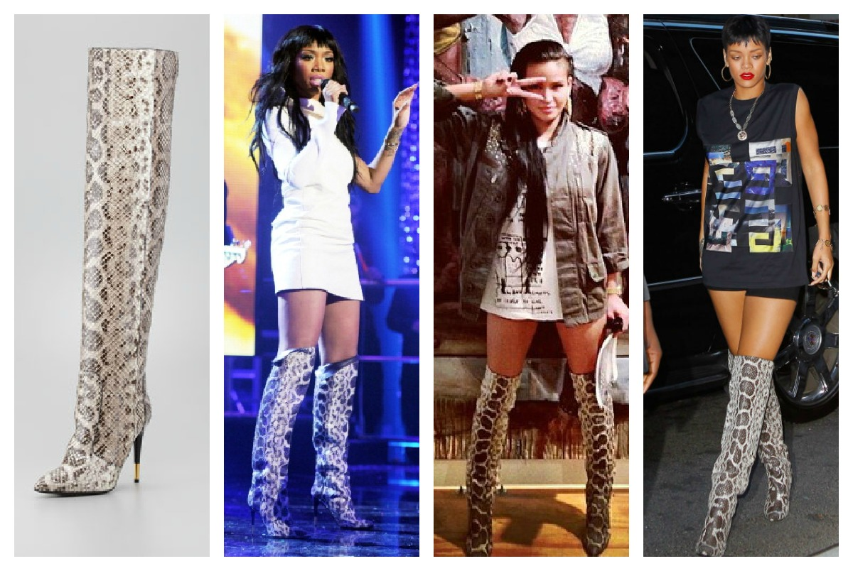 94ef2759b4a Glamspiration  Tom Ford s Over-The-Knee Anaconda Boots Seen on ...