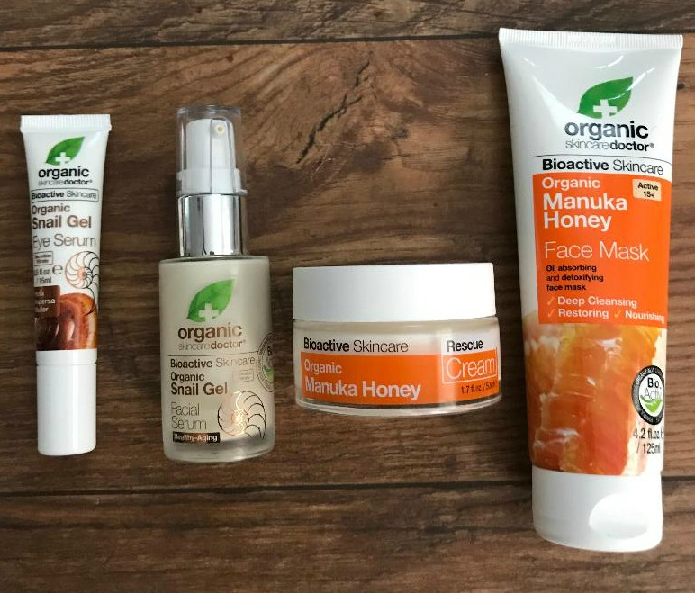organic-doctor-skincare-honey-manuka-bioactive-skincare-rescue-cream-face-mask-organic-snail-gel-eye-serum-organic-snail-gel-fcial-serum-product-review-beauty-and-the-beat-blog